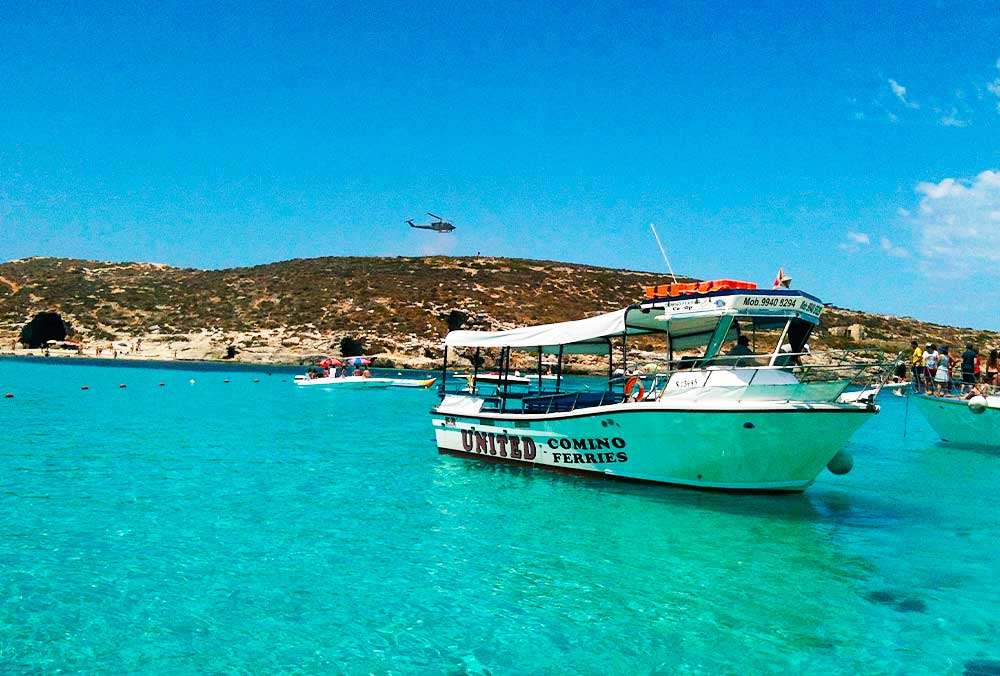 Comino by boat